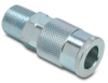 Air Coupling: quick-disconnect, steel, 3/8in ID 1/2in male NPT -- HC38-12M-A -- View Larger Image