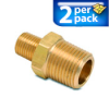 Connector Air Fitting: male, brass, for 1/2in NPT to 1/4in NPT, 2/pk -- BFMC-12N-14N -- View Larger Image