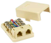 RJ12 Modular Dual Port Surface Mount Jack -- 1707-SF-03