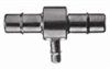 Barbed Fittings; Reducing T Connector, 316 SS, 1/16