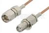 SMA Male to SMA Female Bulkhead Cable 24 Inch Length Using RG178 Coax, RoHS -- PE3959LF-24 -Image