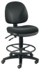 PRESTIGE ART/DRAFTING CHAIR BLACK FOOT RING -- W24563