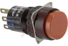 Switch;NON-ILLUM.OILTIGHT ENCLOSURE(IP65)Momentary ACTION;ROUND LENS;SPDT;RED -- 70173284