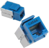 CAT6A Keystone Jack Blue -- 1017-SF-20 -- View Larger Image
