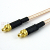 MMCX Plug to MMCX Plug Cable RG316 Coax in 120 Inch -- FMC0909316-120 -Image