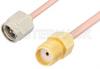 SMA Male to SMA Female Cable 12 Inch Length Using RG405 Coax, RoHS -- PE3824LF-12 -Image