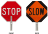 Brady Aluminum Octagon Orange, Red Stop Signs, Traffic Control Signs & Banners Sign - 18 in Width x 18 in Height - TEXT: STOP - 57754 -- 754476-57754