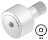 Stud Type Cam Follower, Stainless Steel Corrosion Resistant -- CR-SS