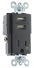 Combination Switch/Receptacle -- TR-8201USBBK -- View Larger Image