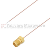 Test Probe Pigtail SMA Female to Stripped Lead Cable .020 Coax in 12 Inch and RoHS Compliant -- FMCA1184-12 -Image