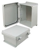 10x8x5 Inch UL® Listed Weatherproof NEMA 4X Enclosure w/Aluminum Mounting Plate, Non-Metallic Hinges -- NBN100805-KIT -- View Larger Image