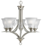 Five-Light CFL Chandelier Fixture -- P4328-09EBWB - Image