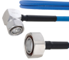 Plenum Low PIM RA 4.3-10 Male to 7/16 DIN Male Cable SPP-250-LLPL Coax in 12 Inch Using Times Microwave Parts and RoHS -- FMCA1855-12 -Image