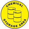 Chemical Storage Area Slip-Gard Floor Sign -- SGN830