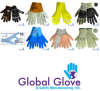 Global Glove 1900 Blue/Tan XL Grain Cowhide Leather Full Fingered Work & General Purpose Gloves - Uncoated - 1900GC LG -- 1900GC LG