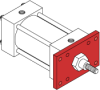 Series MN Aluminum Pneumatic Cylinder - Model MN31 NFPA Style MF1 -- Rod Rectangular Flange Mounting