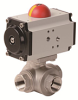 Pneumatically Actuated 3-Way Stainless Steel Ball Valve -- PYSA Series