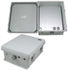 12x10x5 Inch Weatherproof NEMA Enclosure with Aluminum Mounting Plate -- NB121005-01 -- View Larger Image