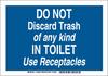 Brady B-401 Polystyrene Rectangle Blue Personal Hygiene Sign - 10 in Width x 7 in Height - 123984 -- 754473-79708