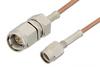 SMA Male to SSMA Male Cable 48 Inch Length Using RG178 Coax -- PE3058-48 -Image