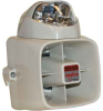 15W Indoor/Outdoor Armored Siren w/Blue Strobe -- 5011-SF-02