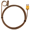 Digi-Sense Type-K Hose Clamp Probe 1.25 - 2.25 OD Mini Conn GRD 10Ft SS Braid Cable -- GO-08469-42