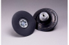 3M 14202 Hard Black Roloc TP Disc Pad - 3 in DIA - 1/4 - 20 Internal Thread Attachment -- 051144-14202 -- View Larger Image