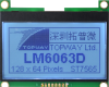128x64 Graphic Display Module -- LM6063DCW - Image