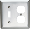 Combination Openings, 1 Toggle Switch & 1 Duplex Receptacle -- SS18 - Image