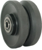 Glass Filled Nylon V Groove Caster Wheel -- VN4x2PS