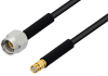 2.92mm Male to SMP Female Cable 6 Inch Length Using PE-SR405FLJ Coax, LF Solder, RoHS -- PE3C0439-6 -Image