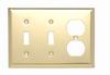 Combination Openings, 2 Toggle Switch & 1 Duplex Receptacle -- SB28PB - Image