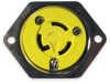 Flanged Outlet,L5-15R,2P,3W,125V -- 3D820 - Image