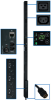 3-Phase Monitored PDU, 12.6 KW, 36 208V Outlets (30 C13, 6 C19), 10-ft. Hubbell CS8365C 50A Input, 0U Vertical Mount -- PDU3VN10H50