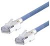 Category 5e Slim Aerospace Ethernet Cable High-Temp SF/UTP FEP Blue RJ45, 25.0ft -- T5A00017-25F -Image