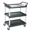 Economy Plastic Cart, 3-Shelf, 18-5/8w x 33-5/8d x 37-3/4h, -- FG342488BLA - Image