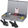 Ferrule and Crimp Kit;w/ Crimp Tool,Wire Stripping Tool,3600 ferrules;24-10 AWG -- 70170080