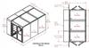 3-Unit Tunnel Low Profile Double Door Air Shower -- CAP701LP-ST3-85180