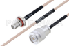 MIL-DTL-17 SMA Female Bulkhead to TNC Male Cable 100 cm Length Using M17/113-RG316 Coax -- PE3M0098-100CM -Image