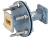 WR-90 Waveguide Bulkhead Adapter Using UG-39/U Square Cover Flange and Operating from 8.2 GHz to 12.4 GHz -- FMWAD5014 -Image