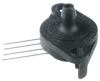TruStability™ SSC Series-Standard Accuracy, analog, SIP FN: fastener mount, single axial barbed port, gage, 0 psi to 1 psi, 5.0 Vdc, dry gases only, no special options -- SSCSFNN001PGAA5 -Image