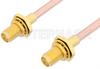 SMA Female Bulkhead to SMA Female Bulkhead Cable 18 Inch Length Using RG402 Coax, RoHS -- PE33518LF-18 -Image