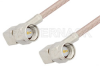 SMA Male Right Angle to SMA Male Right Angle Cable 60 Inch Length Using RG316-DS Coax -- PE3987-60 -Image