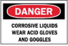 Brady Chemical and Hazardous Materials Signs: Corrosive Liquids -- sc-19-807-052