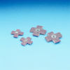 3M Cubitron 747D Ceramic Cross Pad 60 Grit - 1 1/2 in Width x 1 1/2 in Length - 1/2 in Pad Thickness - 20368 -- 051141-20368 - Image