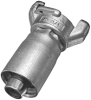 Zinc Plated Two Lug Hose Coupling with Crimp Ferrule - Image