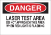 Brady B-555 Aluminum Rectangle White Laser Hazard Sign - 14 in Width x 10 in Height - 42840 -- 754476-42840