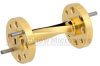 WR-10 90 Degree Waveguide Twist Using a UG-387/U-Mod Flange And a 75 GHz to 110 GHz Frequency Range -- SMW10TW1001 -Image