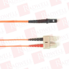 BLACK BOX CORP FOCMPSM-001M-SCMT-OR ( 1M (3.2FT) SCMTRJ OR OS2 SM FIBER PATCH CABLE INDR ZIP OFNP ) - Image