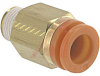 Connector, Pneumatics; 5/16 in.; 1/8 in.; 14.29 mm (Hex.); 6 mm (Min.); NTP -- 70070337 - Image